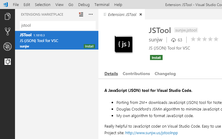 JSTool - A JavaScript tool for Visual Studio Code